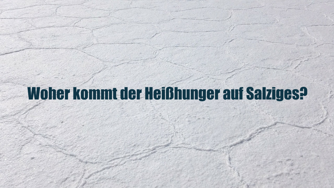 Woher kommt der Heißhunger auf Salziges?